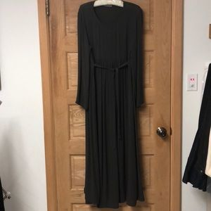 Emporio Armani Gray Floor Length Long Sleeve Dress